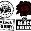 Stock Vector: Black friday stamps and label