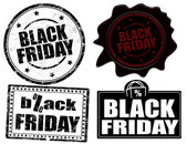 Black friday stamps and label — Vector de stock