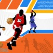 Royalty-Free Stock Vector Image: Basketball advertising poster