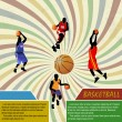 Basketball advertising poster - Stock Vector