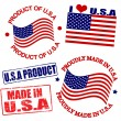 Product of USA stamps - Stock Vector