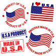 Product of USA stamps — Stock Vector