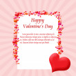 Card frame made from hearts — Stock Vector