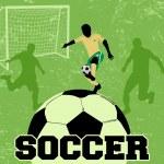Soccer grunge poster — Stock Vector #19099657