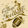 College american football grunge poster - Stock Vector