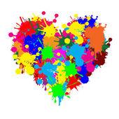Paint splatter heart — Stock Vector