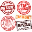 Top secret stamp collection - Stock Vector