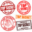 Top secret stamp collection — Stock Vector