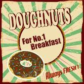 Doughnuts vintage poster — Stock Vector