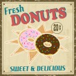 Dounuts vintage poster - Stock Vector