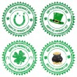 Happy St. Patrick's Day stamps — Stock Vector