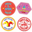 Fool&#039;s Day labels and stamp -  