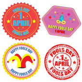 Fool's Day labels and stamp — Stockvector