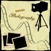 Vintage photography poster — Stock Vector