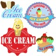 Set of ice cream labels and icons — Stockvektor