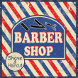 Stock Vector: Barber shop vintage poster