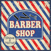 Barber shop vintage poster — Stock Vector