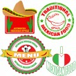 Royalty-Free Stock Vector Image: Set of authentic mexican food stamp and labels