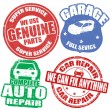 Car service grunge rubber stamps  — Stock Vector