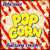 Pop corn vintage poster — Stock Vector