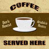 Kahve poster Vintage tarzı — Stok Vektör