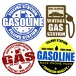 Royalty-Free Stock Vector Image: Set of gasoline grunge rubber stamps and labels