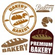 Set of  bakery stamps - Stock Vector