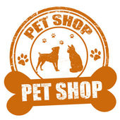 Pet shop stamp — Stock Vector