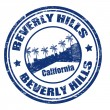 Stock Vector: Beverly Hills stamp