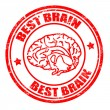 Stock Vector: Best brain stamp