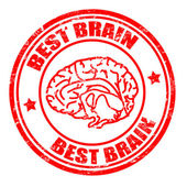 Best brain stamp — Stock Vector