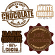 Set of chocolate stamps and labels — Stock Vector #22006687