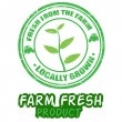 Farm fresh stamps - Stok Vektör