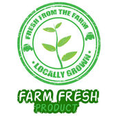 Farm fresh stamps — Stok Vektör