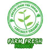 Farm fresh stamps — Stock Vector