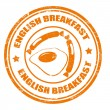 English breakfast — Stockvectorbeeld