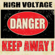 Danger High Voltage — Stock Vector #22381401
