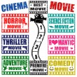 Movie genres stamps - Stok Vektör