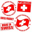 Product of Swiss stamps - Stock Vector