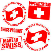 Product of Swiss stamps — Stock Vector