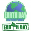 Earth day stamps - Stock Vector