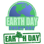 Earth day stamps — Stock Vector