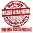 Mission Accomplished stamps — Stock Vector
