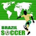 Brazil soccer poster — Stock Vector #22769434