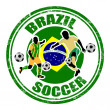 Royalty-Free Stock Vector Image: Brazil soccer stamp