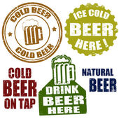 Cold beer stamps — Vettoriale Stock