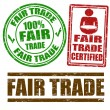 Fair Trade stamps - Stock Vector
