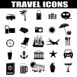 Travel icons set - Vettoriali Stock