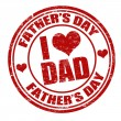 Father's day stamp — Imagen vectorial