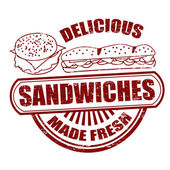 Sandwiches stamp — Stock Vector